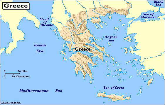 Ancient Greece Greek Food Homes Climate And Location - Where is greece located
